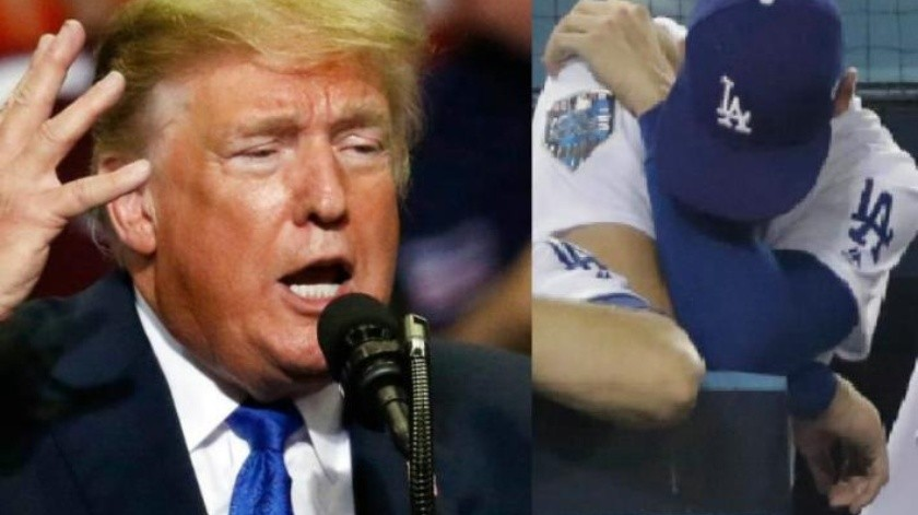 Cuestiona Trump las decisiones del mánager de Dodgers