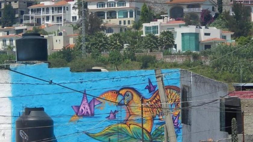 Jovenes Pintando Murales