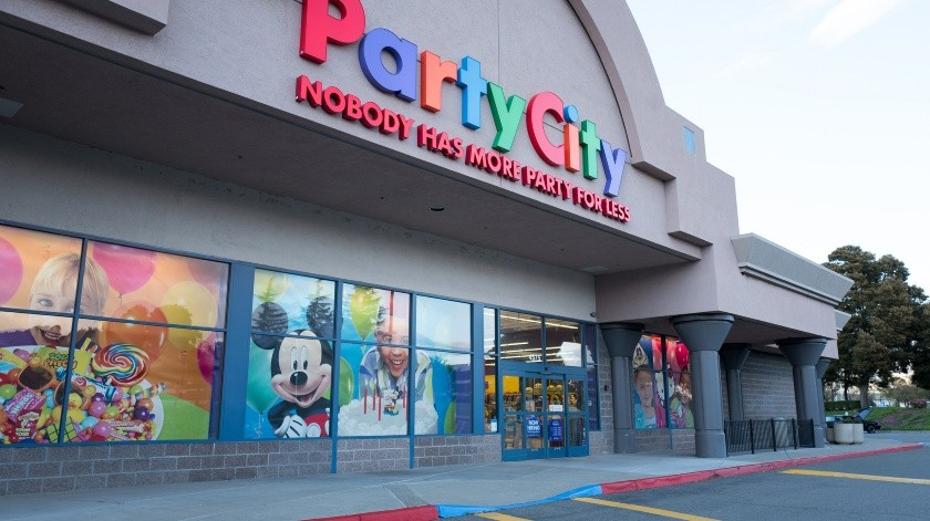 Party City - Facade with logo and sign at the Pleasanton, California location of party supply store Party City, April 16, 2018. (Photo by Smith Collection/Gado/Getty Images) - Not Released (NR)(This content is subject to copyright., Archive Photos)