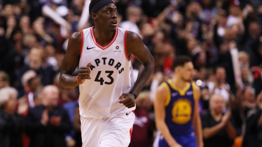 Raptors embisten a Warriors en primero de Final de NBA(AFP)