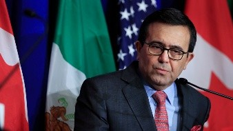 Ildefonso Guajardo Villarreal - Mexico's Secretary of Economy Ildefonso Guajardo Villarreal, speaks during the conclusion of the fourth round of negotiations for a new North American Free Trade Agreement (NAFTA) in Washington, Tuesday, Oct. 17, 2017.  (AP Photo/Manuel Balce Ceneta)