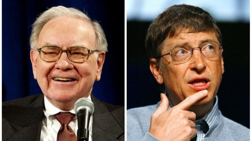 Bill Gates y Warren Buffet venden helados por un día(GH)
