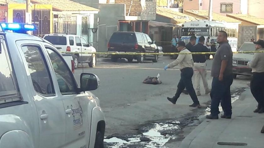 El presunto responsable huyó en un vehículo color blanco.(Margarito Martínez)