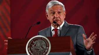 Andrés Manuel López Obrador - Mexico President Andrés Manuel López Obrador says Mexico will not respond to U.S. President Donald Trump's threat of coercive tariffs with desperation, but instead push for dialogue, during a press conference at Palacio Nacional, in Mexico City, Mexico, Friday May 31, 2019. (AP Photo/Ginnette Riquelme)