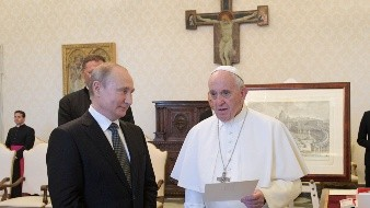 Russian President Vladimir Putin visits Italy and the Vatican - MANDATORY CREDIT