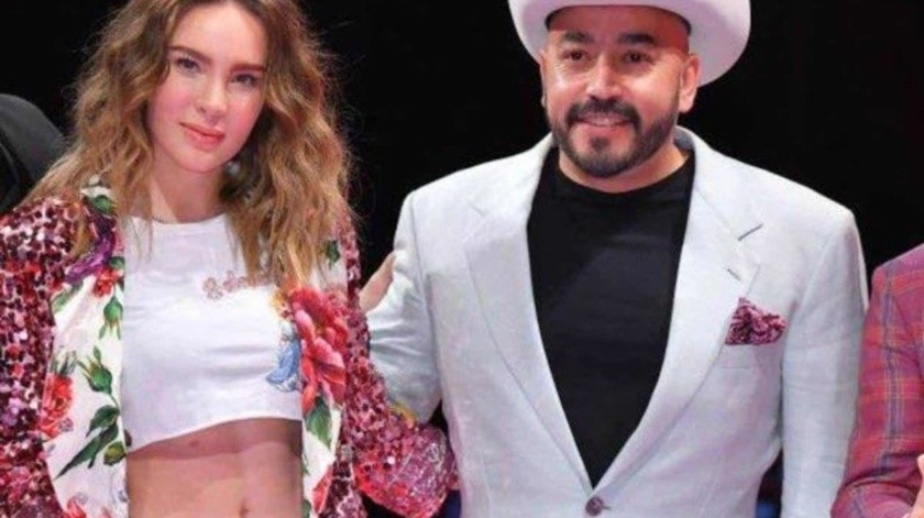 Belinda y Lupillo captados en evento familiar del cantante.
