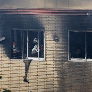 Fire at Kyoto Animation building in Kyoto - JAPAN OUT EDITORIAL USE ONLY/ NO ARCHIVES NO ARCHIVES NO ARCHIVES