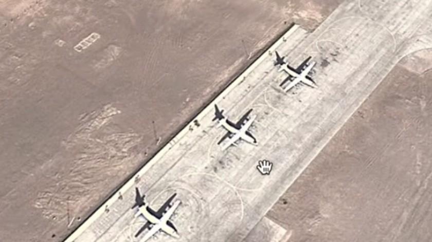 Con Google Maps descubren base militar en China similar al Área 51
