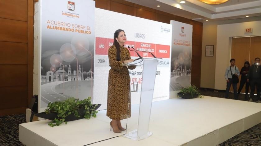 Célida López, alcaldesa de Hermosillo.