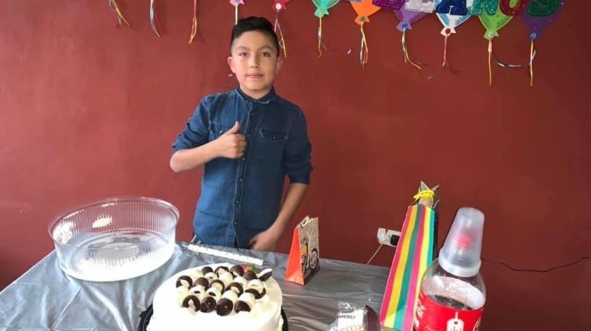 Brayan  Isaac Mendoza necesita de donadores de plaquetas para su tratamiento de quimioterapia debido a un tumor en el tórax.(Cortesía)