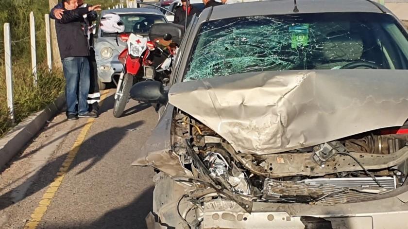 Choque de cinco vehículos provoca caos vial en el Vado del Río.(Teodoro Borbón)