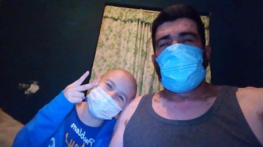 Héctor René Morales Barrera y su papá, Héctor Morales Antillón.(Cortesía)