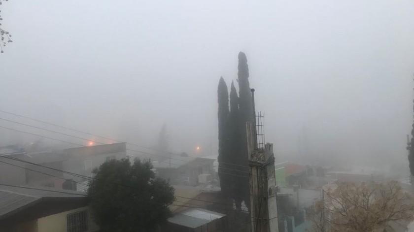 Amanece Nogales a 5 grados y con neblina(Rubén A. Ruiz)