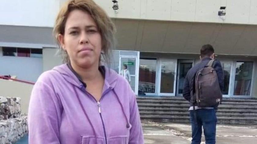 Francisca Alejandra Laviar Munguía, mamá de Brayan.(Gamaliel González.)