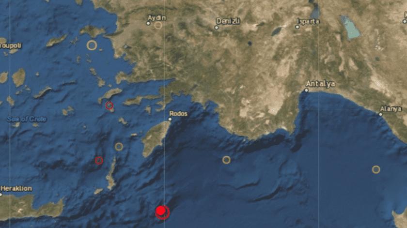 Su epicentro se ubicó en el mar, a 104 kilómetros al sur de Kárpatos. El terremoto se sintió también en la turística isla de Rodas, la más grande del Dodecaneso.