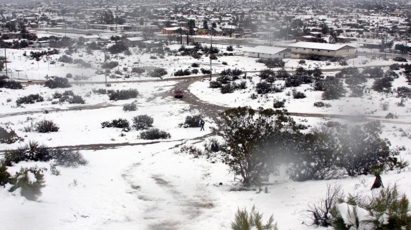 Durante la mañana se estiman temperaturas de -10 a -5 grados Celsius con heladas en sierras de Chihuahua y Durango.(Agencias)