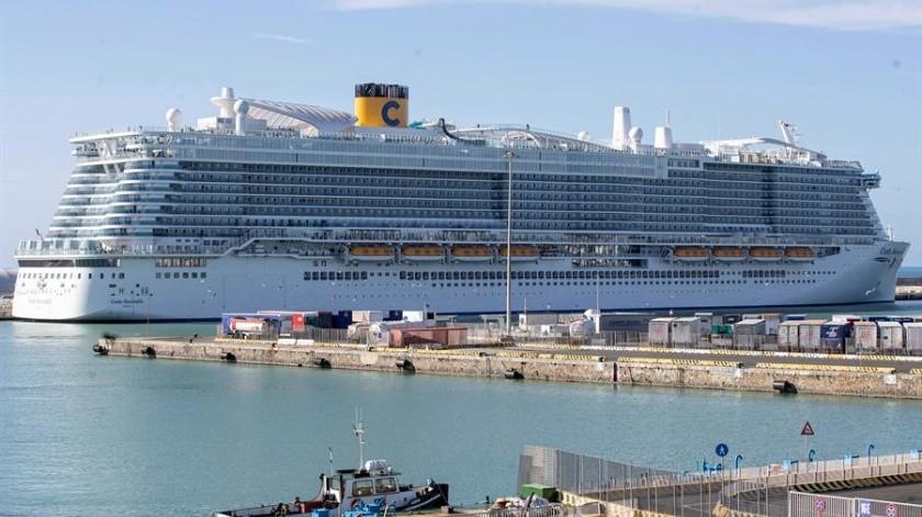 El buque, de la compañía Costa Crociere, hizo escala en Palma, procedente de Barcelona, el pasado martes durante unas diez horas, entre las 07:40 y las 18:13 horas.(EFE)