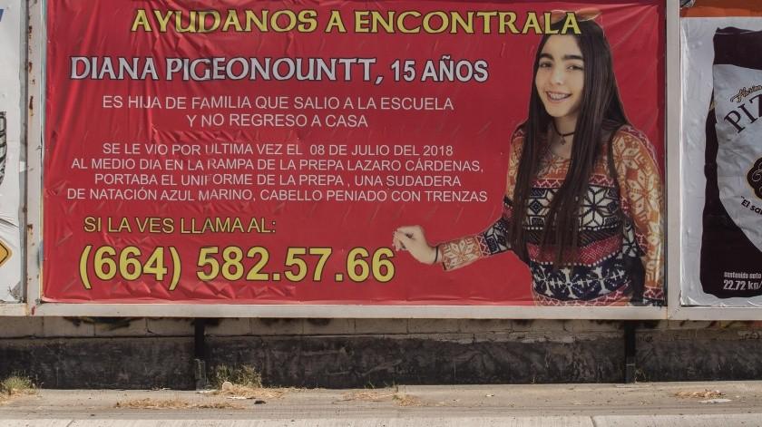 La joven desapareció hace dos años al salir de su escuela.(Archivo)