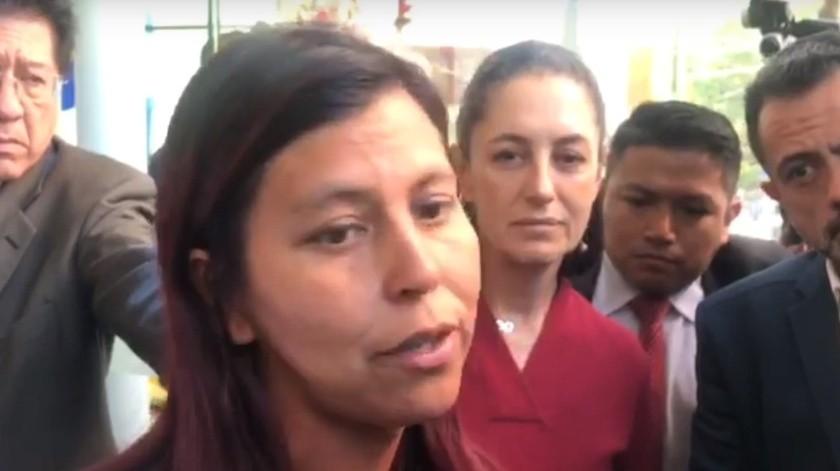 La madre de Fátima exigió justicia ante las autoridades por el asesinato de su hija.(Captura de pantalla.)
