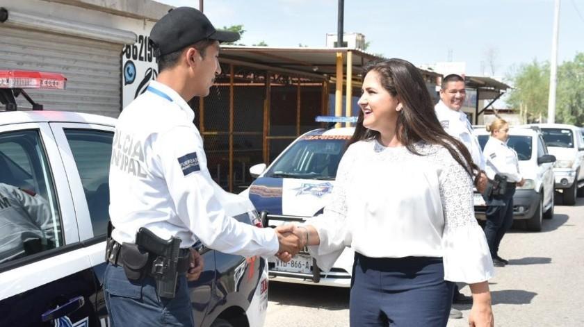 La alcaldesa Célida López indicó que el fortalecimiento del área de seguridad pública ha sido prioridad desde el inicio de su gestión.(EL IMPARCIAL)