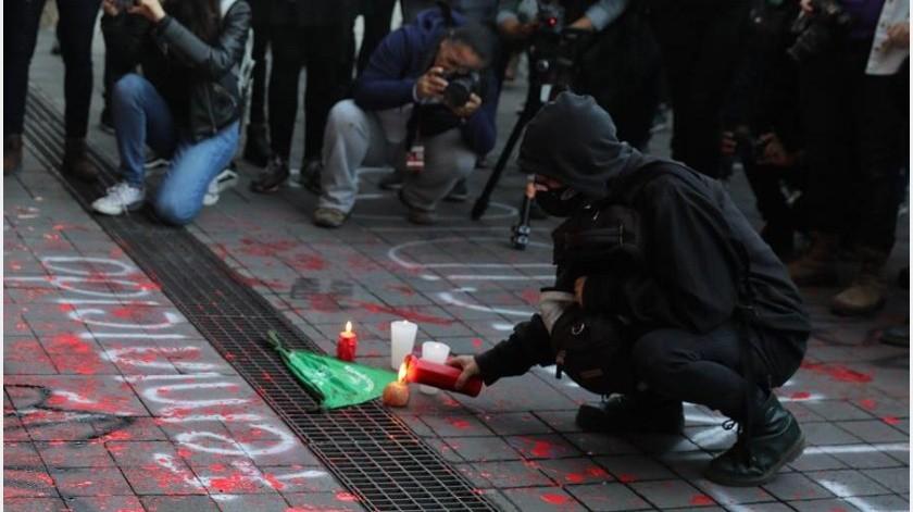 El viernes pasado se produjeron varias protestas -una de ellas también frente al Palacio Nacional- que terminaron con algunos actos vandálicos. E(EFE)