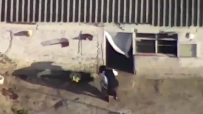 Autoridades utilizaron un dron para localizar a la pareja feminicida de Fátima.(Captura de Video.)