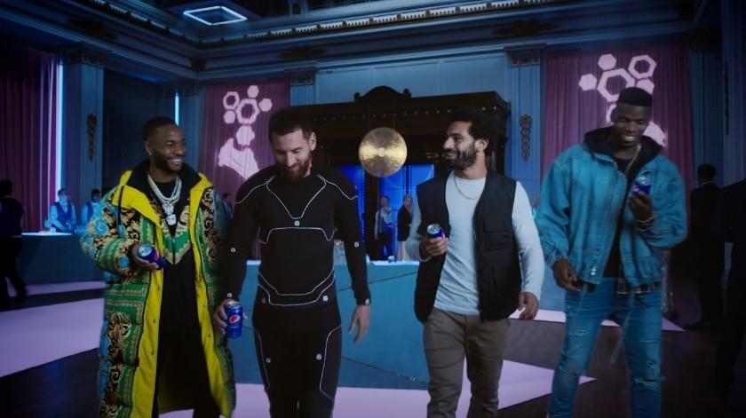 Messi, Salah, Pogba y Sterling, son los protagonistas de comercial de Pepsi.(Twitter)