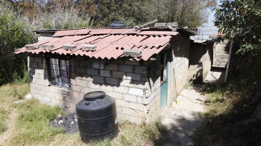 Vivienda en donde se encontraban Giovana y Mario, presuntos feminicidas de Fátima.(Agencia Reforma)