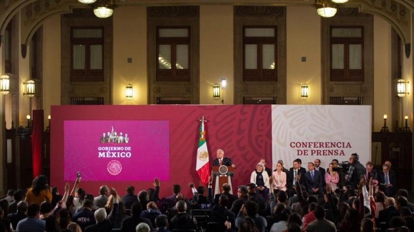 El presidente Andrés Manuel López Obrador contesta la pregunta a nuestra corresponsal Shaila Rosagel.(Gobierno de México)