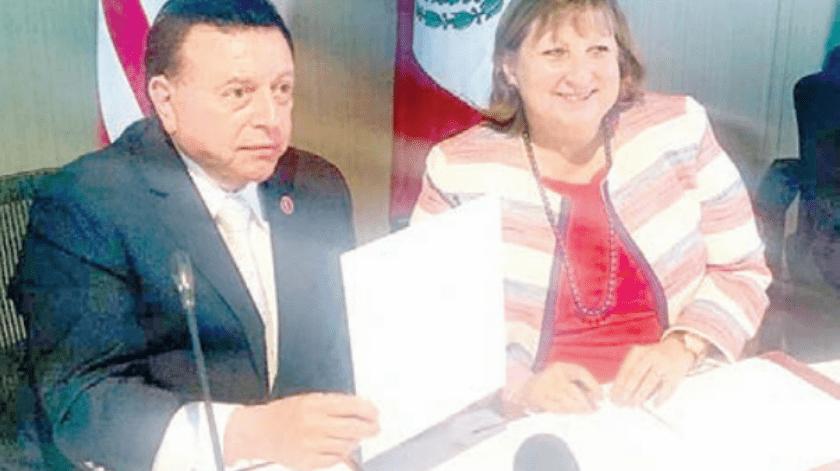 Firman Fiscalía y Consulado de EU Memorándum de Entendimiento(Cortesía)