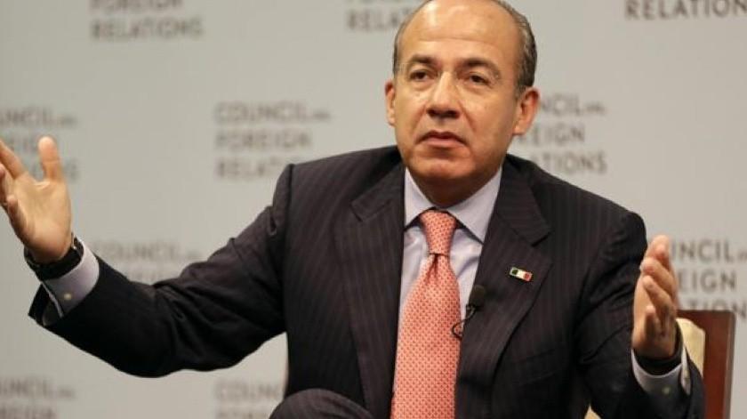 Felipe Calderón, ex presidente de México.(Archivo.)