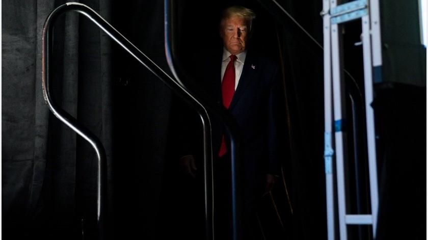 En público, Trump y los suyos se mostraron exultantes porque el notable resurgimiento de Biden convirtió la contienda demócrata en una pugna entre dos.(AP)