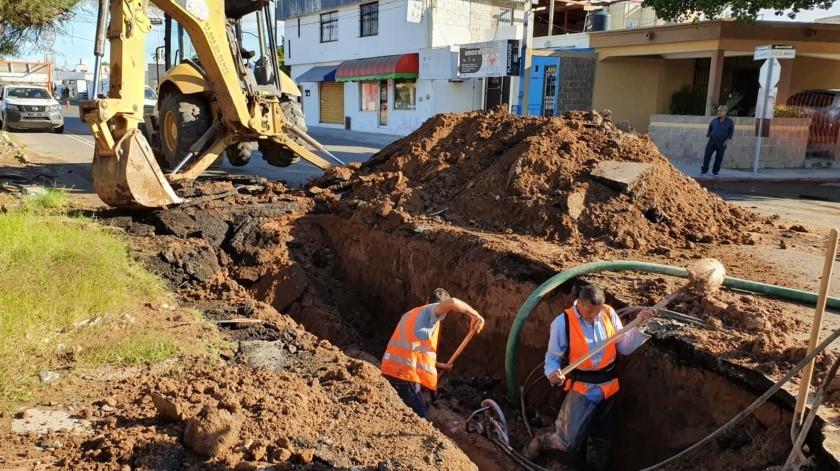 Agua de Hermosillo realiza los trabajos necesarios.(Julián Ortega.)