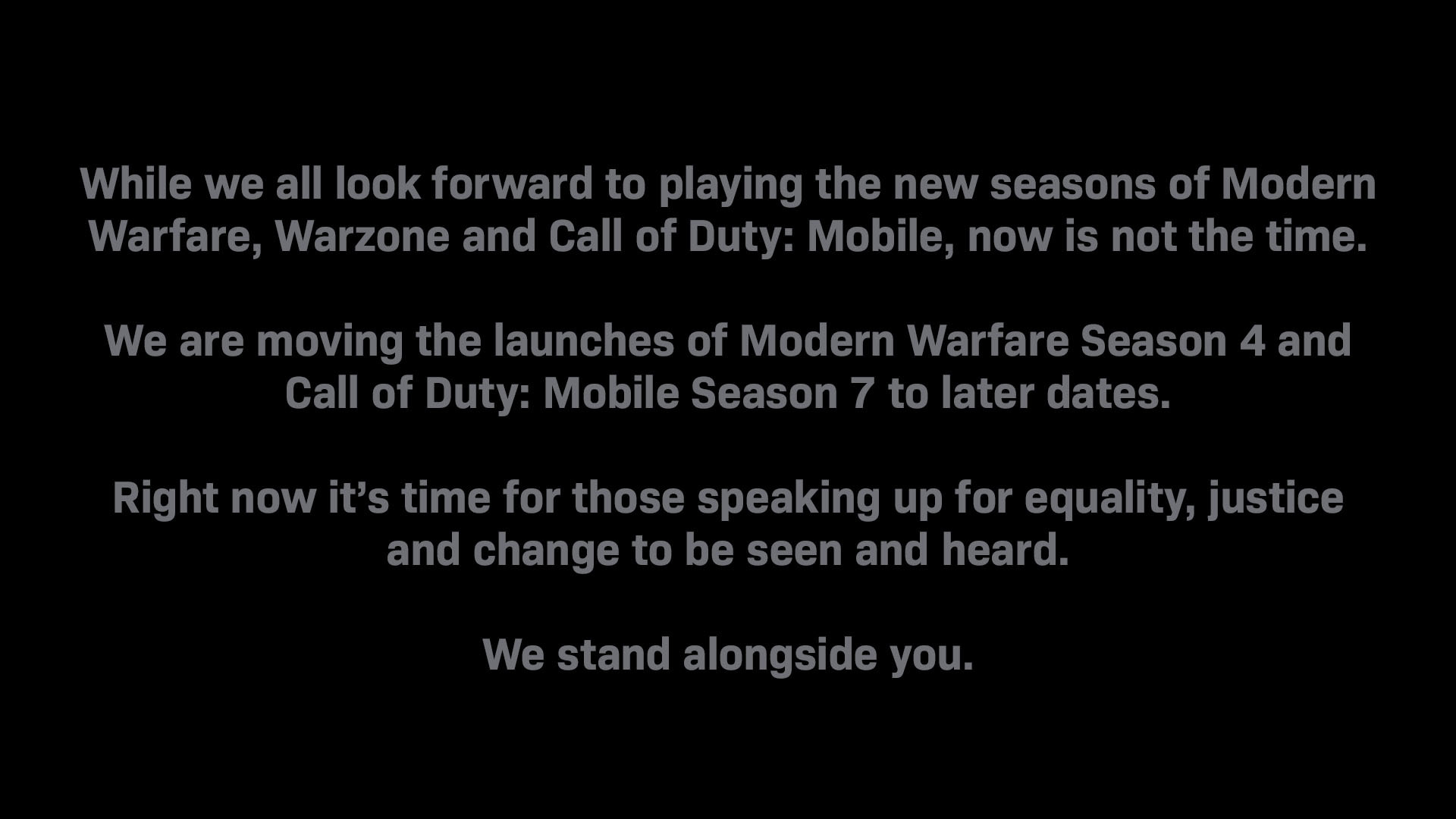 Cancelan temporadas de Call of Duty hasta nuevo aviso