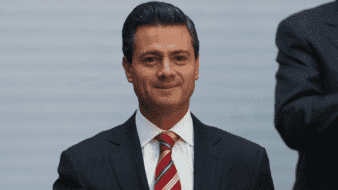 File- In this Feb. 25, 2013 file photo, Enrique Pena Nieto, the president of Mexico, is seen  at the National Palace in Mexico City. On Tuesday, Jan. 15, 2019, Colombian drug trafficker Alex Cifuentes testified that Mexican cartel leader Joaquin