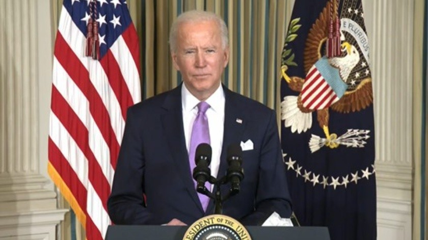 Joe Biden, presidente de Estados Unidos en rueda de prensa(Captura video)