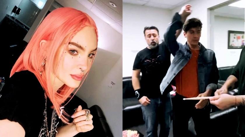 """Belinda se grabó cantando el tema """"Frijolero"""".(Instagram)"""