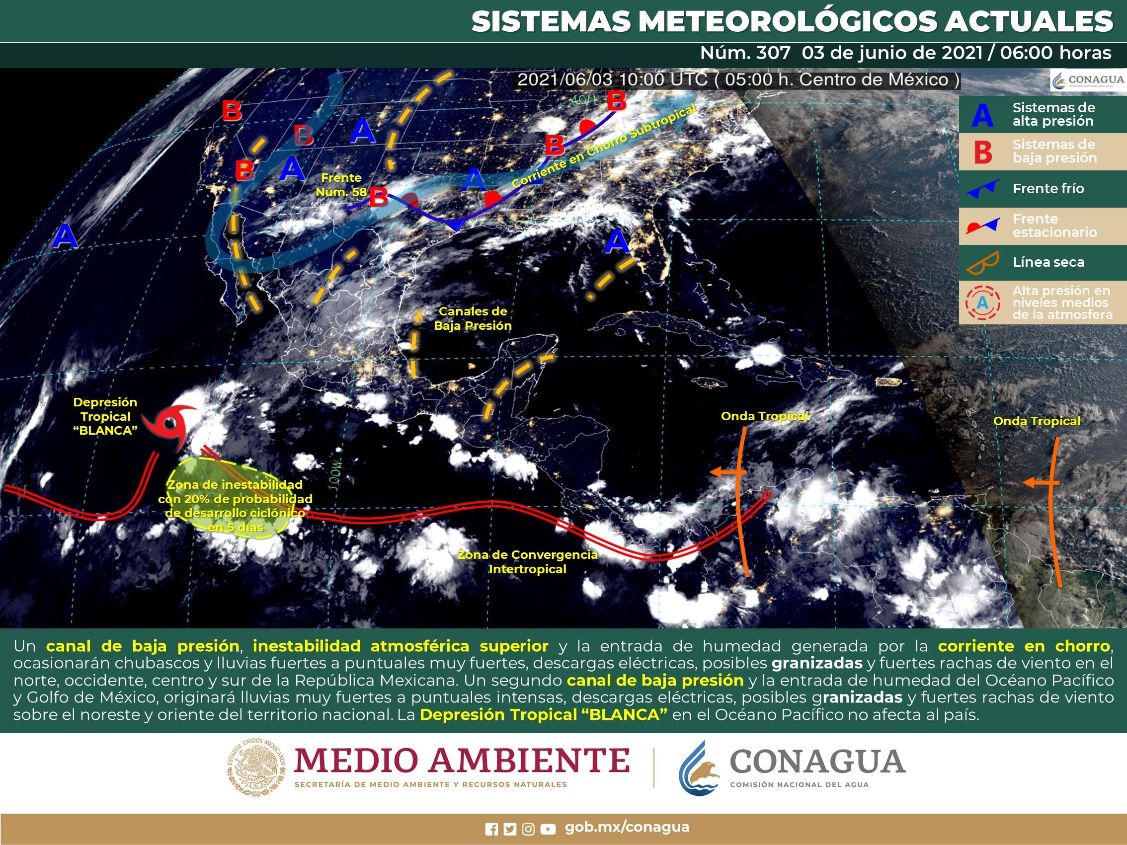 Clima en México: Lluvias fuertes y altas temperaturas en distintos estados del País