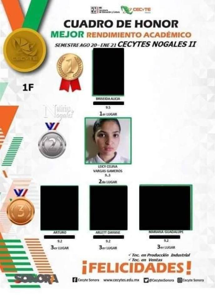 Leicy estaba en el cuadro de honor antes de ser asesinada a sus 15 años |  ELIMPARCIAL.COM | Noticias de Sonora, México