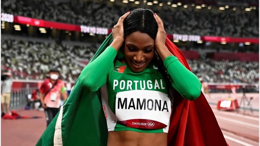 Patricia Mamona, medallista de plata, quien se viralizó por su hazaña.(EFE)