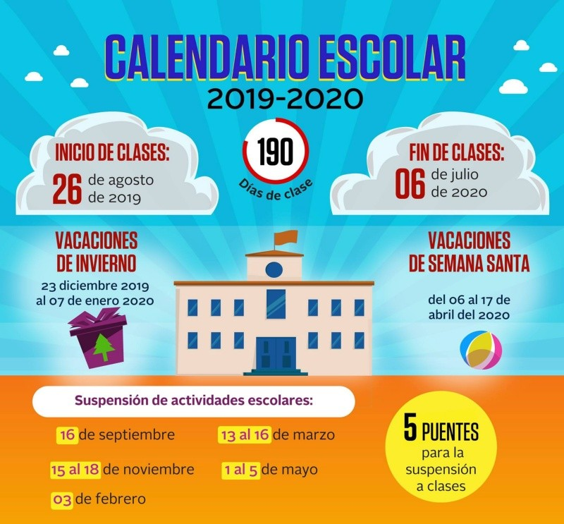 Calendario Impuestos 2020.Calendario Escolar 2019 2020 Elimparcial Com