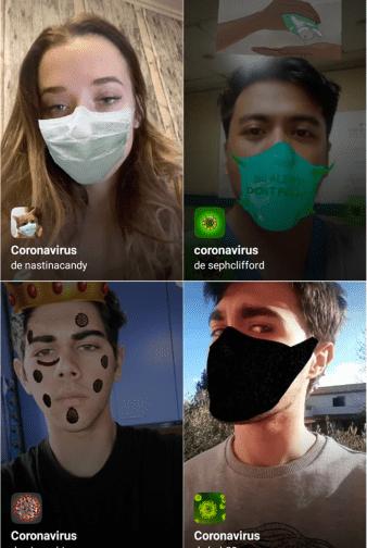 """Resultado de imagen de Coronavirus contagia instagram, crean filtros con """"el virus""""."""