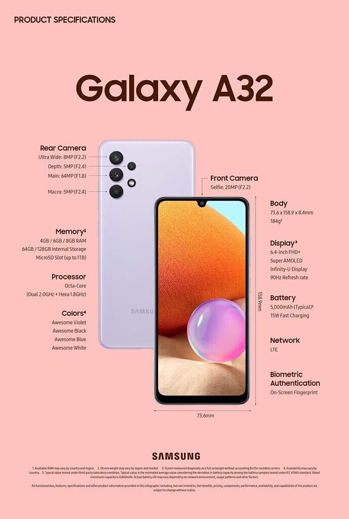 Lanzó Samsung Galaxy A32; nuevo smartphone de gama media   EL IMPARCIAL