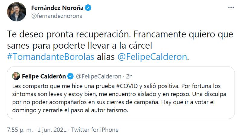 Tuit de Fernández Noroña