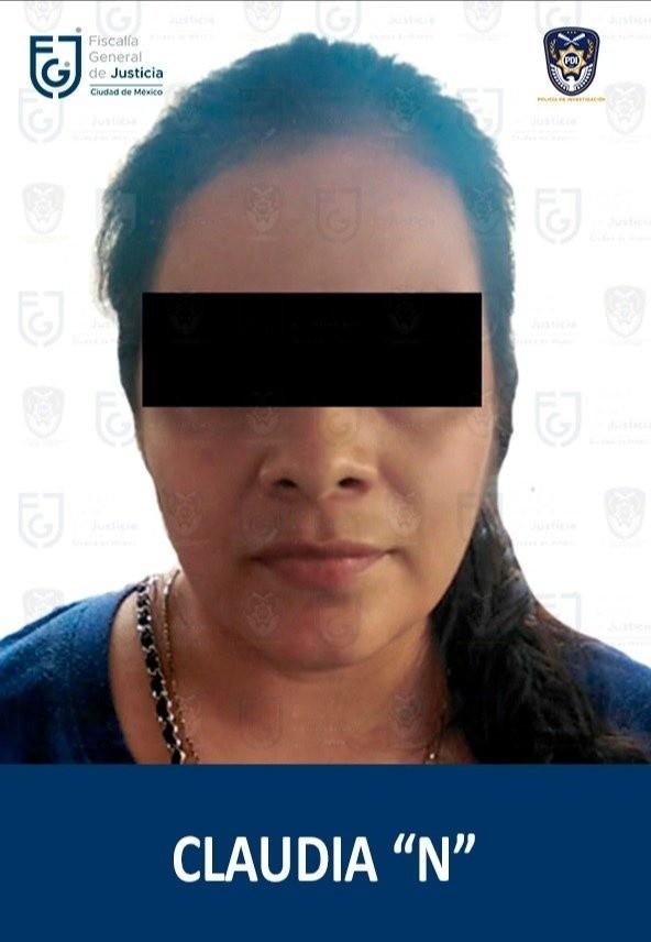 La Fiscalía Capitalina dio a conocer que se logró la detención de Claudia Priscila 'N'.